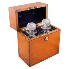 Victorian Oak Decanter Box, 19th Century