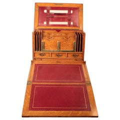 Victorian Oak Portable Stationary Cabinet and Office