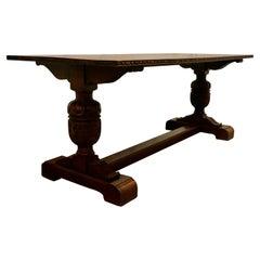 Victorian Oak Refectory Table
