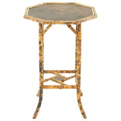 Victorian Octagonal Two-Tier Bamboo Lamp Side Table, Scotland, 1870