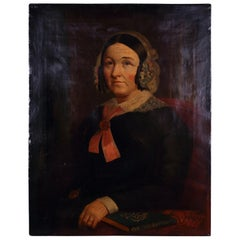 Victorian Oil Painting of a Lady, circa 1850