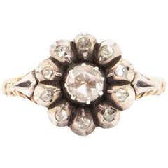 Dutch 14 Karat Gold Diamond Ring