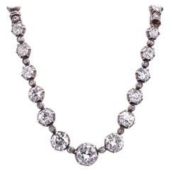 Victorian Old-Cut Diamond Riviere Necklace, ca. 1880s