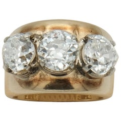 Victorian Old Cut Diamond Trilogy Ring