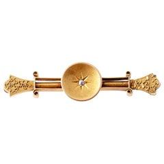 Victorian Old European Cut Diamond Bar Pin