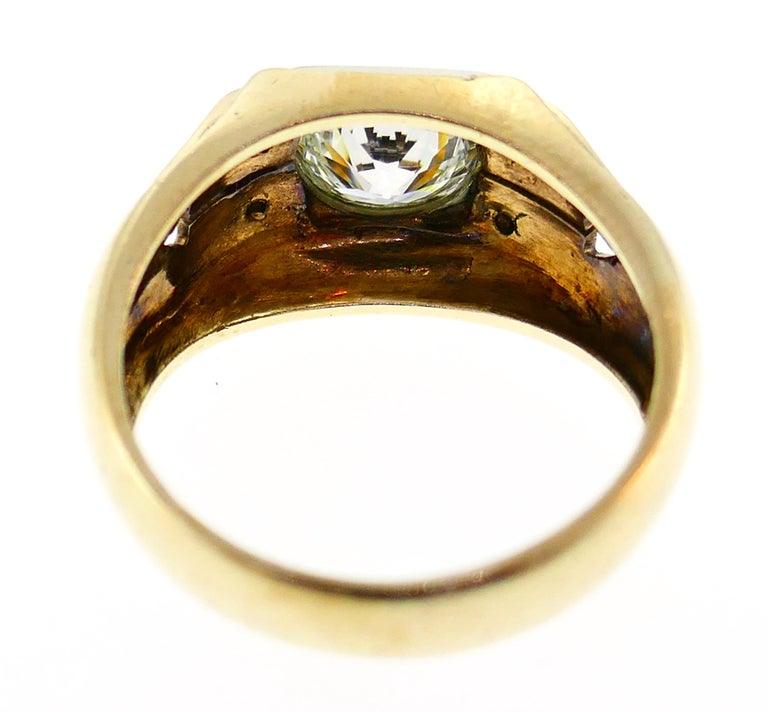 Victorian Old European Cut Diamond Gold Ring For Sale 1