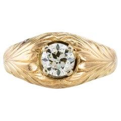 Victorian Old European Cut Diamond Yellow Gold Ring