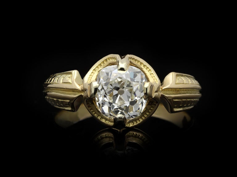 Victorian Old Mine Diamond Solitaire Ring, circa 1860 In Good Condition For Sale In London, GB