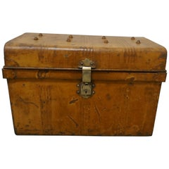 Victorian Original Scumble Paint Tin Travel Trunk