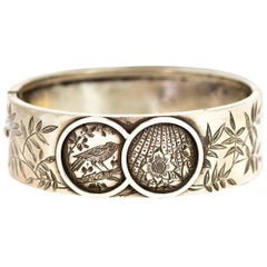 Victorian Ornate Silver Bangle