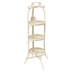 Victorian Ornate Three Tier Muffin Stand with Plate Holders for Afternoon Tea