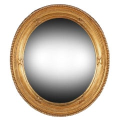 Victorian Oval Gilt Wall Mirror, 19th Century