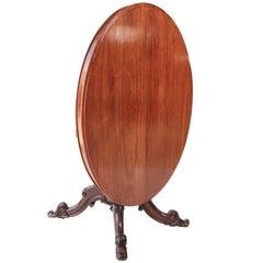 Victorian Oval Mahogany Centre Table