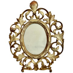Gilt and Patinated Victorian Ovoid Photo Frame