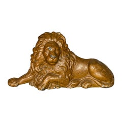 Victorian Painted Cast Iron Lion