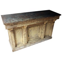 Victorian Painted Pine Shop Counter, circa 1870-1880