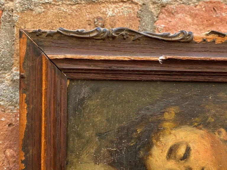Victorian Painting of a Sleeping Child For Sale 7