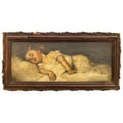 Victorian Painting of a Sleeping Child