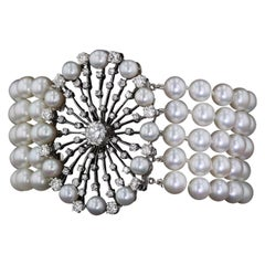 Victorian Pearl and Diamond Bracelet