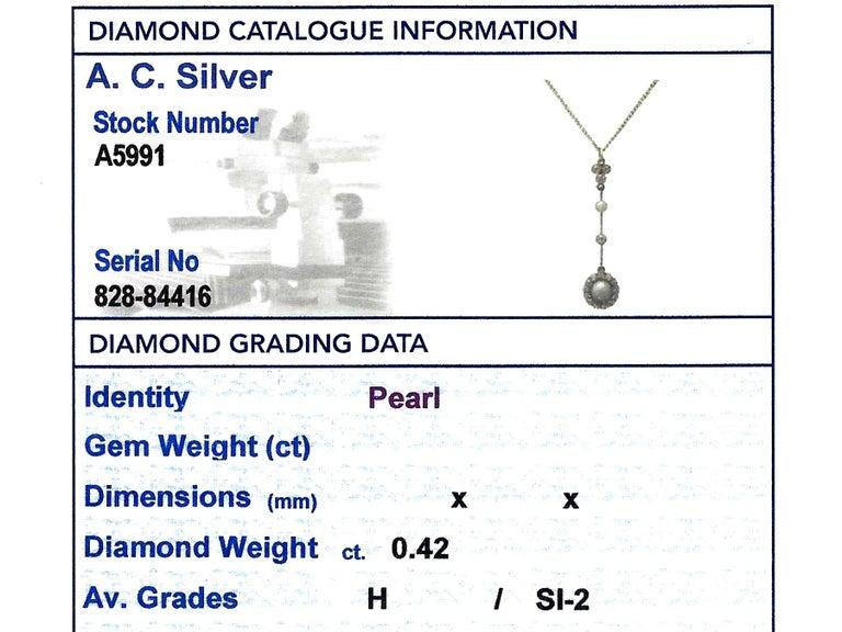 Victorian Pearl Diamond Yellow Gold Pendant For Sale 3