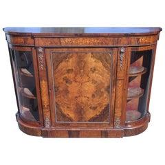 Victorian Period Inlaid Walnut Credenza