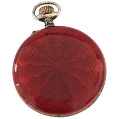 Victorian Period Red Enamel Pocket / Fob Watch