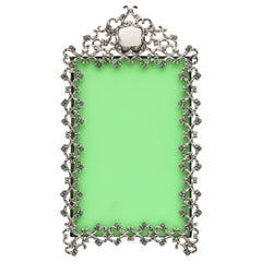 Victorian Period Sterling Silver, Footed, Pierced Picture Frame
