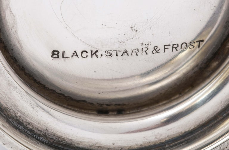 Victorian Period Sterling Silver Mug/Cup on Pedestal Base, Black, Starr & Frost For Sale 7