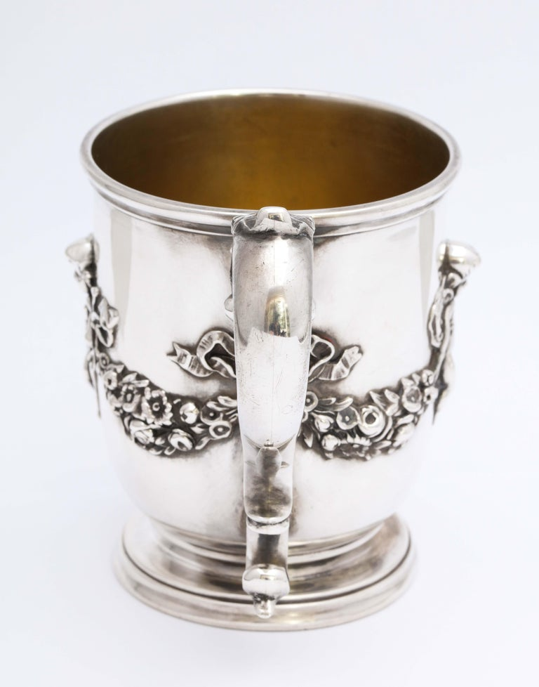 Victorian Period Sterling Silver Mug/Cup on Pedestal Base, Black, Starr & Frost For Sale 1