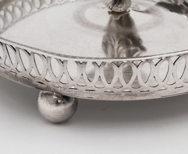Victorian Period Sterling Silver Spanish Chamberstick on Ball Feet by Paulino For Sale 6
