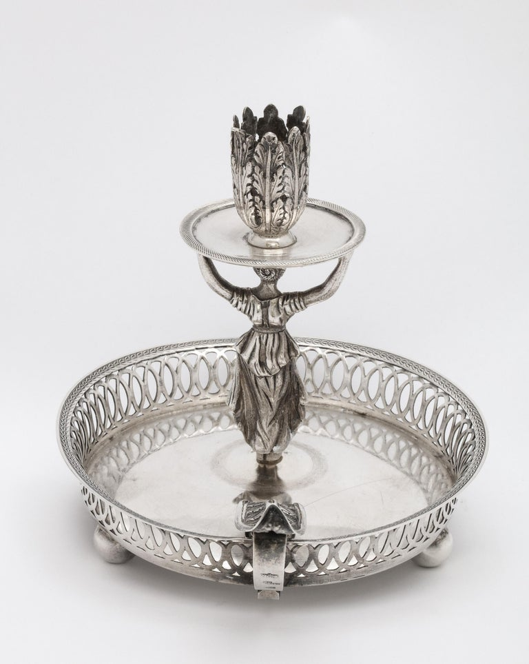Victorian Period Sterling Silver Spanish Chamberstick on Ball Feet by Paulino For Sale 10