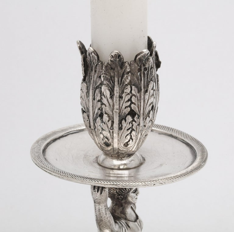 Victorian Period Sterling Silver Spanish Chamberstick on Ball Feet by Paulino For Sale 1