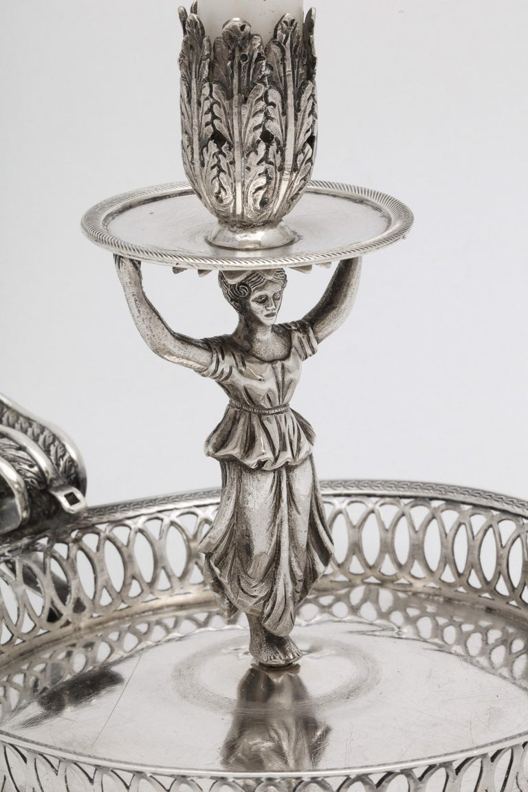 Victorian Period Sterling Silver Spanish Chamberstick on Ball Feet by Paulino For Sale 2