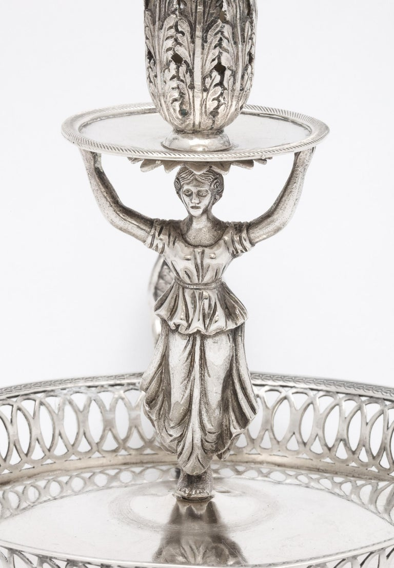 Victorian Period Sterling Silver Spanish Chamberstick on Ball Feet by Paulino For Sale 4