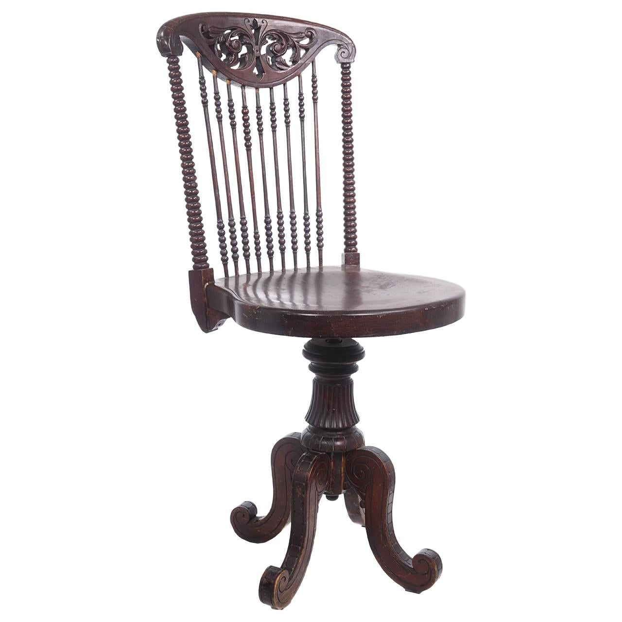 Victorian Piano or Desk Chair