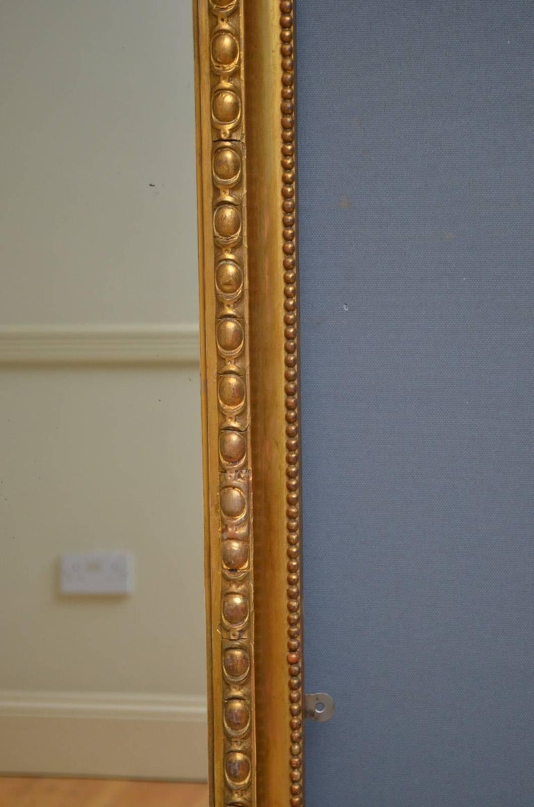 Giltwood Victorian Pier Mirror For Sale