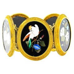 Victorian Pietra Dura Bracelet Set