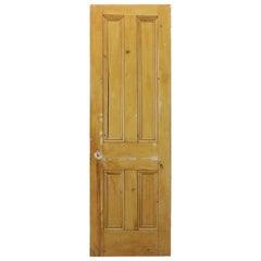 Victorian Pine Four Beaded Panel Door, 20th Century