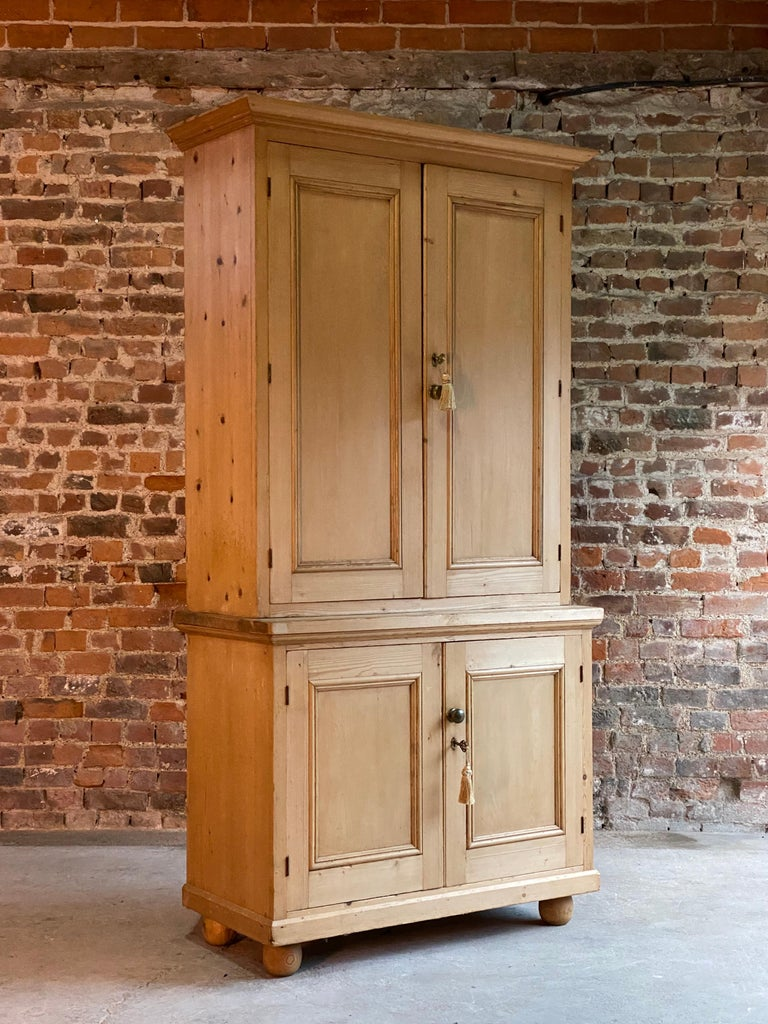 Victorian Pine Housekeepers Cupboard Pantry Antique, 19th ...