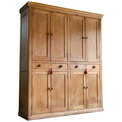 Victorian Pine Housekeepers Cupboard Pantry Antique 19th Century, circa 1890