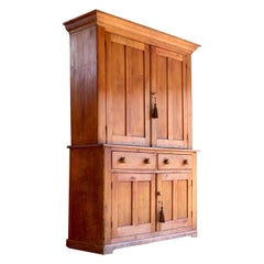 Victorian Pine Housekeepers Cupboard Pantry Antique 19th Century, circa 1895