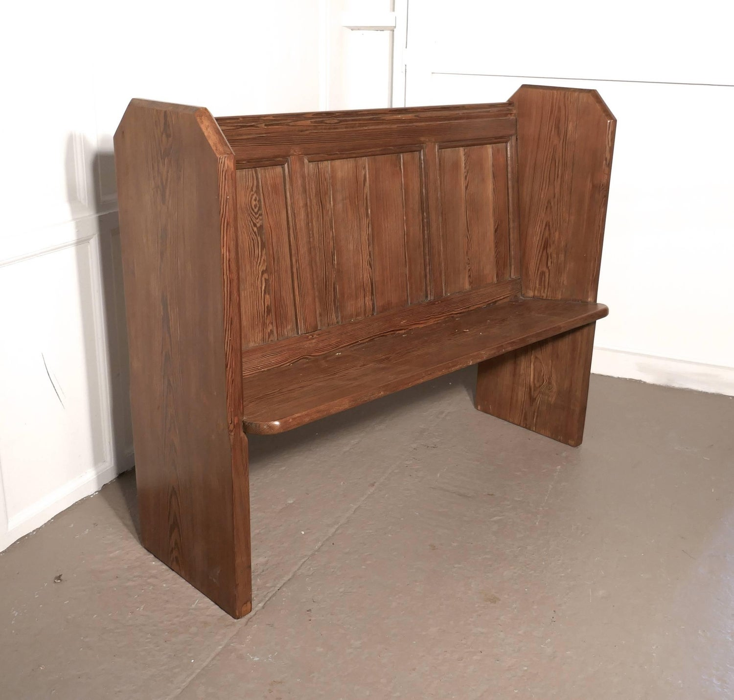 Outstanding Victorian Pine Kitchen Bench Or Church Pew At 1Stdibs Dailytribune Chair Design For Home Dailytribuneorg