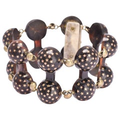 Victorian Pique Stars and Domes Bracelet