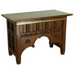 Victorian Pitch Pine Altar Table
