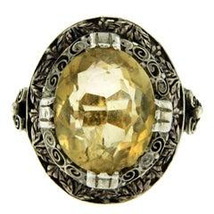 Victorian Quartz Gold Ring