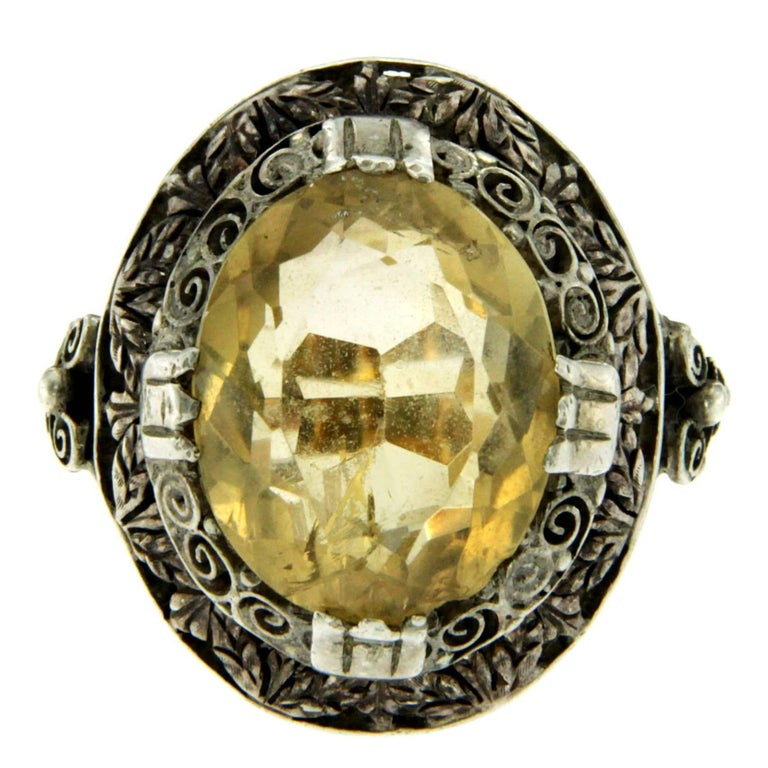 Victorian Quartz Gold Ring