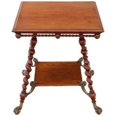 Victorian Red Walnut and Brass Centre Table