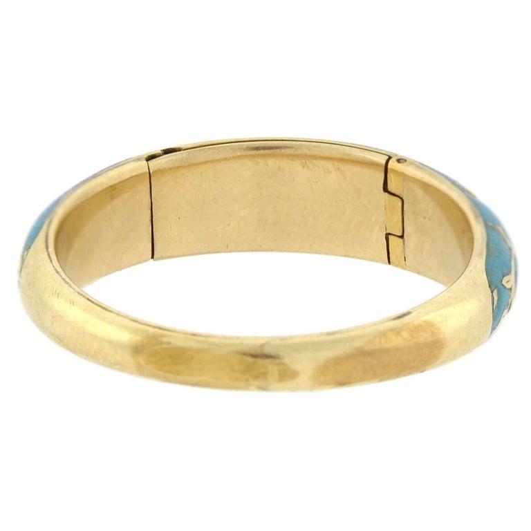 Victorian Renaissance Revival Blue Enamel Hidden Compartment Ring For Sale 3