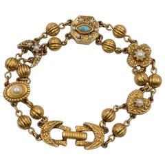 Victorian Revival Bracelet Goldette 1960's