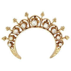 Victorian Revival Crescent Brooch